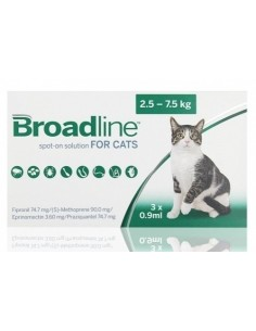 Broadline Gatos L 2,5 KG 7,5 KG 3 PIPETAS