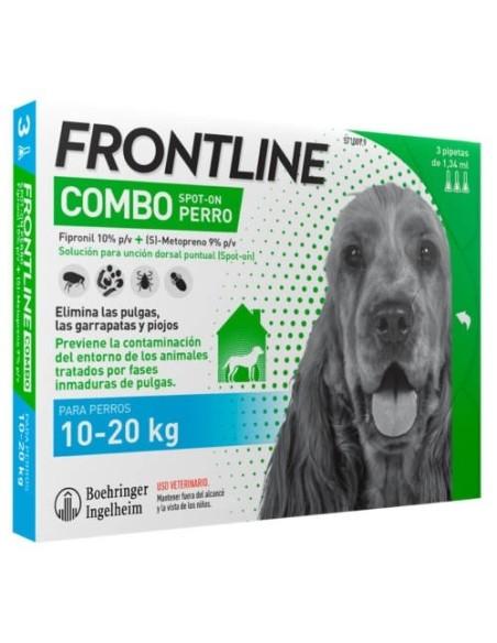 FRONTLINE COMBO PERROS 10 20 KG 3 PIPETAS