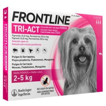 FRONTLINE TRI-ACT 2-5 KG. 3 pipetas