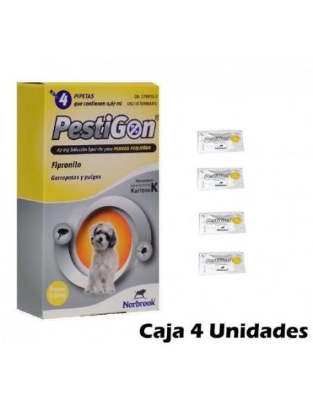 PESTIGON PERROS 2-10 KGS. (4 pipetas)